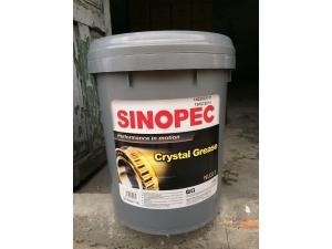 Mỡ Chịu Nhiệt Sinopec Crystal Grease NLGI 0, 1, 2, 3, T3 (Xô Nhựa 17kg)